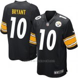 Camiseta Pittsburgh Steelers Bryant Negro Nike Game NFL Hombre