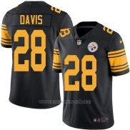 Camiseta Pittsburgh Steelers Davis Negro Nike Legend NFL Hombre