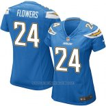 Camiseta San Diego Chargers Flowers Azul Nike Game NFL Mujer