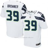 Camiseta Seattle Seahawks Browner Blanco Nike Elite NFL Hombre
