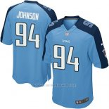 Camiseta Tennessee Titans Johnson Azul Nike Game NFL Hombre