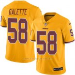 Camiseta Washington Redskins Galette Amarillo Nike Legend NFL Hombre