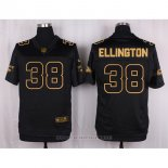 Camiseta Arizona Cardinals Ellington Negro Nike Elite Pro Line Gold NFL Hombre