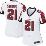 Camiseta Atlanta Falcons Sanders Blanco Nike Game NFL Mujer