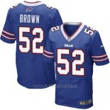 Camiseta Buffalo Bills Brown Azul Nike Elite NFL Hombre