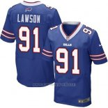 Camiseta Buffalo Bills Lawson Azul Nike Elite NFL Hombre