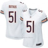 Camiseta Chicago Bears Butkus Blanco Nike Game NFL Mujer