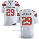 Camiseta Cleveland Browns Johnson Blanco Nike Elite NFL Hombre