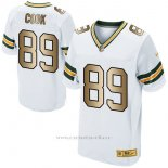 Camiseta Green Bay Packers Cook Blanco Nike Gold Elite NFL Hombre