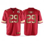 Camiseta Kansas City Chiefs Berry Rojo Nike Gold Game NFL Hombre