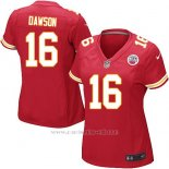 Camiseta Kansas City Chiefs Dawson Rojo Nike Game NFL Mujer