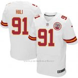 Camiseta Kansas City Chiefs Hali Blanco Nike Elite NFL Hombre