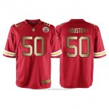 Camiseta Kansas City Chiefs Houston Rojo Nike Gold Game NFL Hombre
