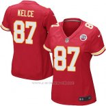 Camiseta Kansas City Chiefs Kelce Rojo Nike Game NFL Mujer