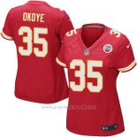 Camiseta Kansas City Chiefs Okoye Rojo Nike Game NFL Mujer