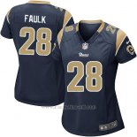 Camiseta Los Angeles Rams Faulk Negro Nike Game NFL Mujer