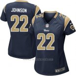 Camiseta Los Angeles Rams Johnson Negro Nike Game NFL Mujer