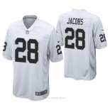 Camiseta NFL Game Hombre Oakland Raiders Josh Jacobs Blanco