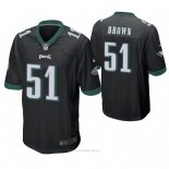 Camiseta NFL Game Hombre Philadelphia Eagles Zach Brown Negro