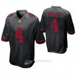 Camiseta NFL Game Hombre San Francisco 49ers Nick Mullens Negro