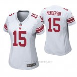 Camiseta NFL Game Mujer New York Giants Quadree Henderson Blanco