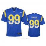 Camiseta NFL Game Nino Los Angeles Rams Aaron Donald 2020 Azul