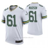 Camiseta NFL Legend Hombre Green Bay Packers Cole Madison Blanco Color Rush