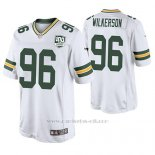 Camiseta NFL Legend Hombre Green Bay Packers Muhammad Wilkerson Blanco 100th Anniversary Color Rush