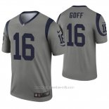 Camiseta NFL Legend Hombre Los Angeles Rams 16 Jared Goff Inverted Gris