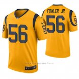 Camiseta NFL Legend Hombre St Louis Rams Dante Fowler Jr. Oro Color Rush