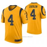 Camiseta NFL Legend Hombre St Louis Rams Greg Zuerlein Oro Color Rush