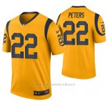 Camiseta NFL Legend Hombre St Louis Rams Marcus Peters Oro Color Rush