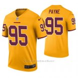 Camiseta NFL Legend Hombre Washington Redskins Daron Payne Oro Color Rush