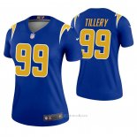 Camiseta NFL Legend Mujer Los Angeles Chargers 99 Jerry Tillery 2nd Alterno Azul