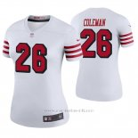 Camiseta NFL Legend Mujer San Francisco 49ers Tevin Coleman Blanco Color Rush