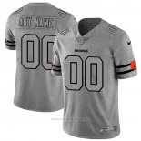 Camiseta NFL Limited Cleveland Browns Personalizada Team Logo Gridiron Gris