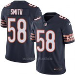 Camiseta NFL Limited Hombre Chicago Bears 58 Roquan Smith Azul Stitched Vapor Untouchable
