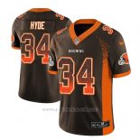 Camiseta NFL Limited Hombre Cleveland Browns Carlos Hyde Marron 2018 Drift Fashion Color Rush