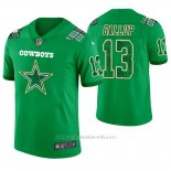 Camiseta NFL Limited Hombre Dallas Cowboys Michael Gallup St. Patrick's Day Verde