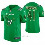 Camiseta NFL Limited Hombre Houston Texans Zach Cunningham St. Patrick's Day Verde