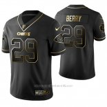 Camiseta NFL Limited Hombre Kansas City Chiefs Eric Berry Golden Edition Negro