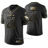 Camiseta NFL Limited Hombre Miami Dolphins Frank Gore Golden Edition Negro