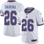 Camiseta NFL Limited Hombre New York Giants 26 Orleans Darkwa Blanco Stitched Rush