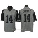 Camiseta NFL Limited Hombre New York Jets 14 Sam Darnold Gris