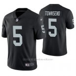 Camiseta NFL Limited Hombre Oakland Raiders Johnny Townsend Negro Vapor Untouchable