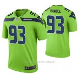 Camiseta NFL Limited Hombre Seattle Seahawks John Randle Verde Color Rush