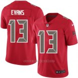 Camiseta NFL Limited Hombre Tampa Bay Buccaneers 13 Mike Evans Rojo Stitched Rush