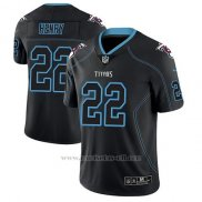 Camiseta NFL Limited Hombre Tennessee Titans Derrick Henry Negro Color Rush 2018 Lights Out