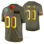 Camiseta NFL Limited Las Vegas Raiders Personalizada 2019 Salute To Service Verde