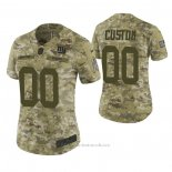 Camiseta NFL Limited Mujer New York Giants Personalizada 2018 Salute To Service Verde